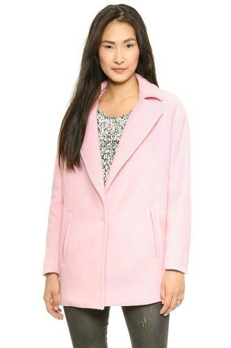 pink coat, witer coat, wool jacket, pink