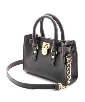 michael kors Hamilton mini, michael kors, mk hamilton, black purse, handbag, black handbag