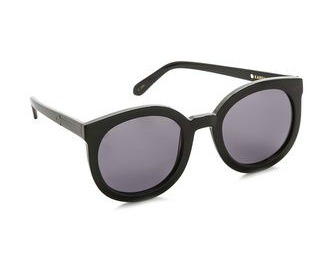 Karen Walker Super Duper Strength Sunglasses, Karen Walker, black sunglasses, sunglasses, summertime shades, black shades