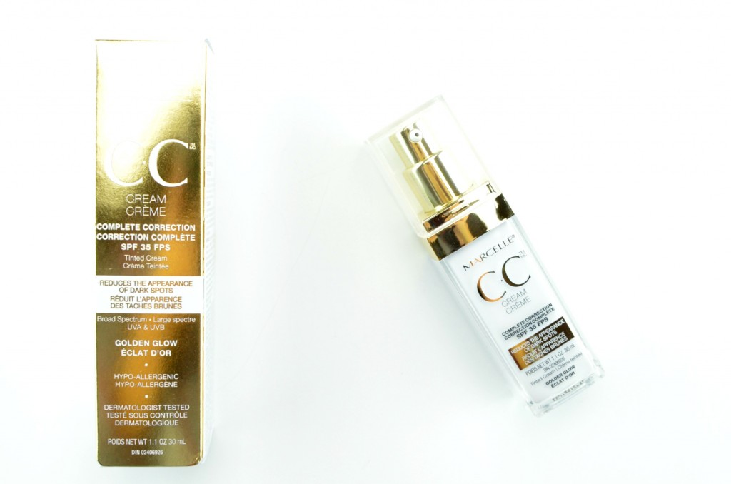 Marcelle CC Cream SPF 35 Complete Correction, Golden Glow, marcelle