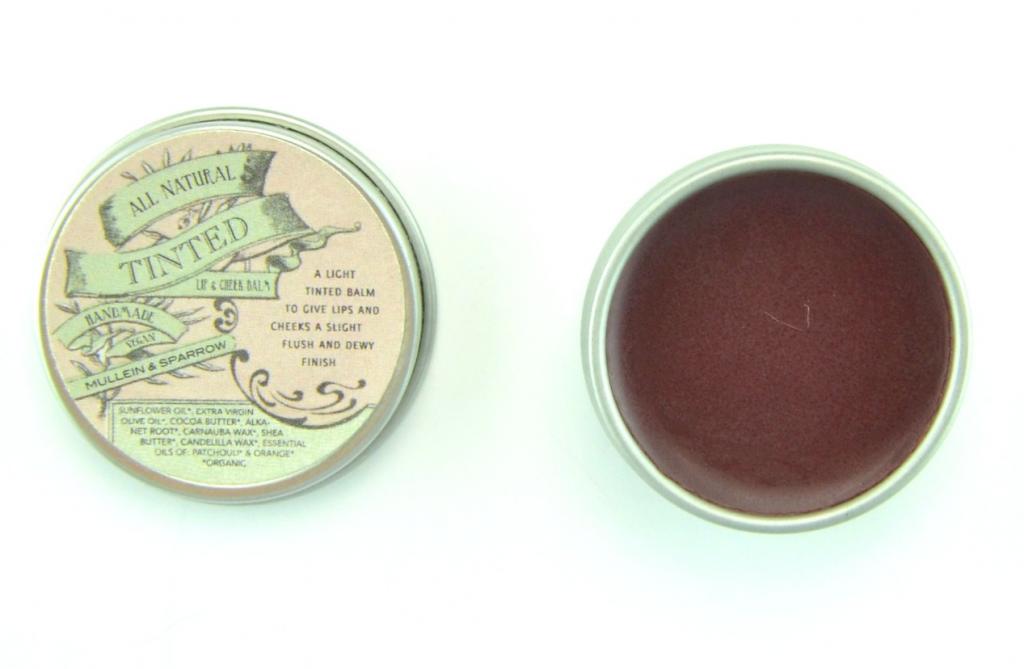 Vegan Cuts Beauty Box, Mullein & Sparrow All Natural Tinted Lip & Cheek Balm , lip blam
