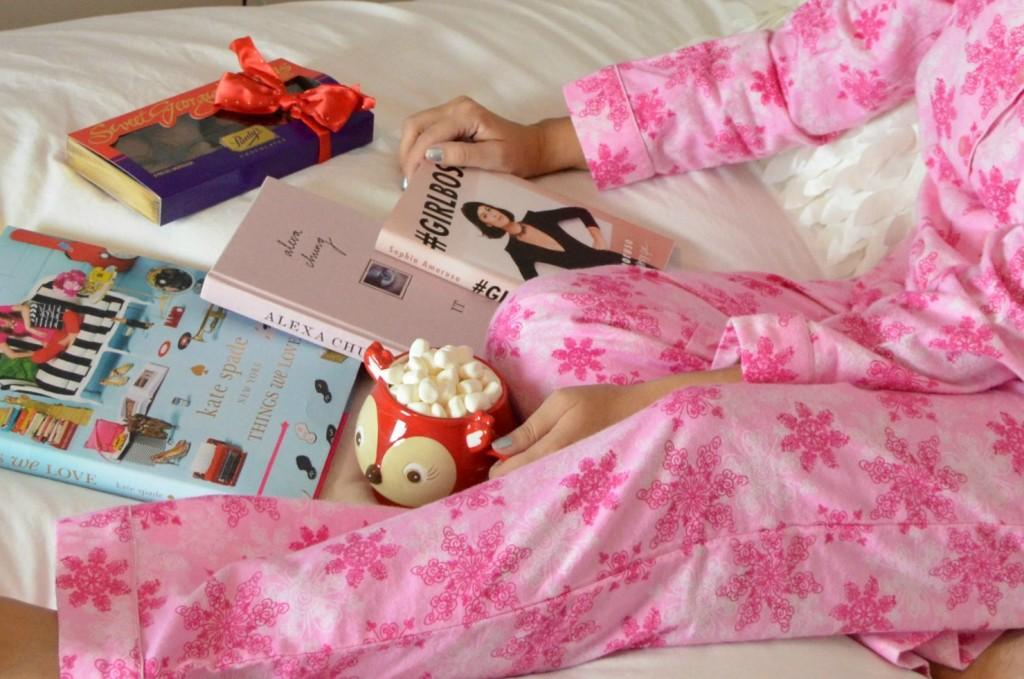 la vie en rose, fannel pajamas, pink pjs