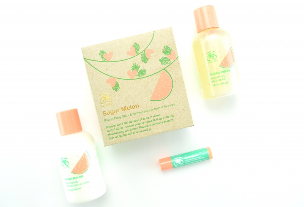 Arbonne Sugar Melon Bath & Body Gift Set (2)