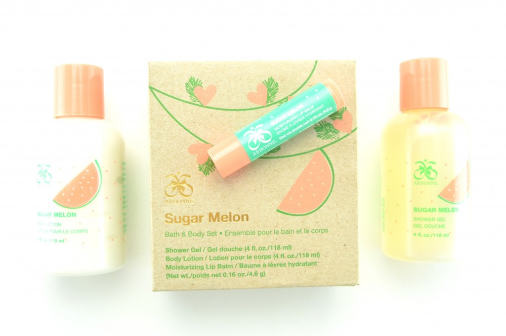 Arbonne Sugar Melon Bath & Body Gift Set (3)