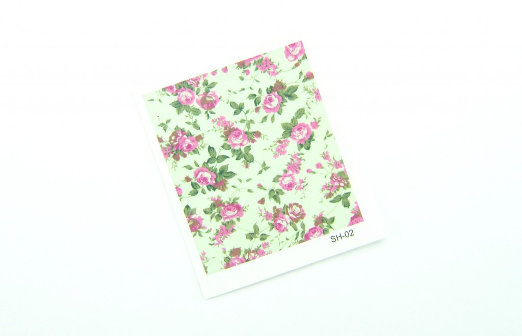 Nail Art, Water Decals, Transfer Stickers, Enchanting Floral Pattern Sticker