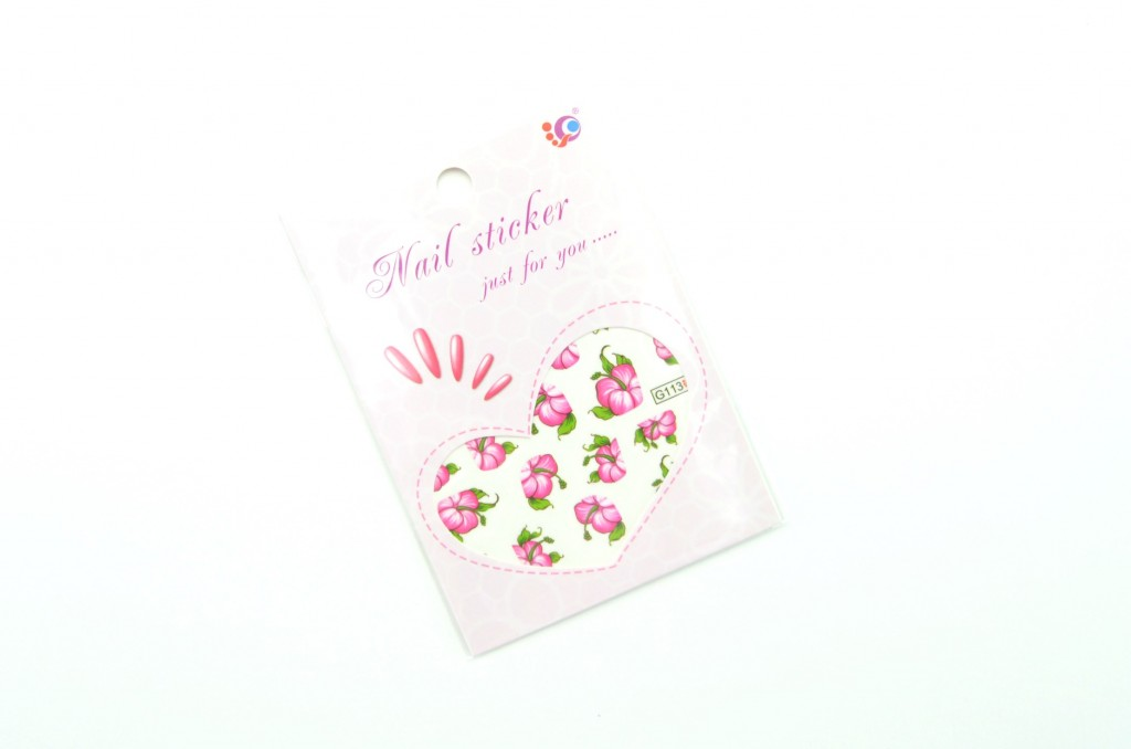 Nail Art Water Decals, Transfer Stickers, Rose Red Bloomy, Floral Sticker