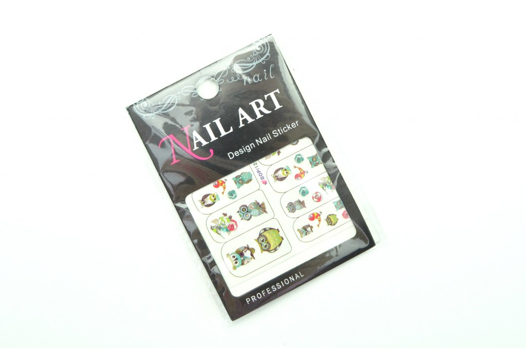 Nail Art Water, Decals Transfer Stickers, Cute Animal, Owl, Elephant Pattern Sticker