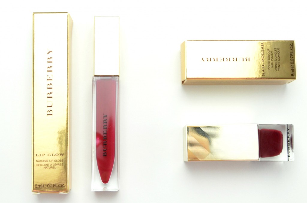 Burberry Winter Glow Collection, Burberry, Winter Glow, red lipgloss, red nail polish