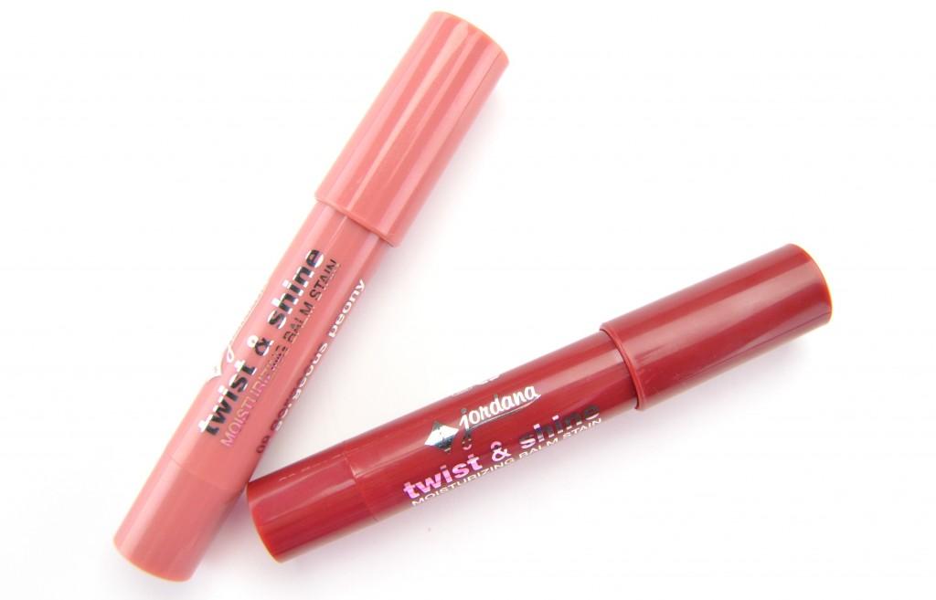Jordana Twist & Shine Moisturizing Balm Stain, lip stain, lip blam, jordana lip stain, red lip