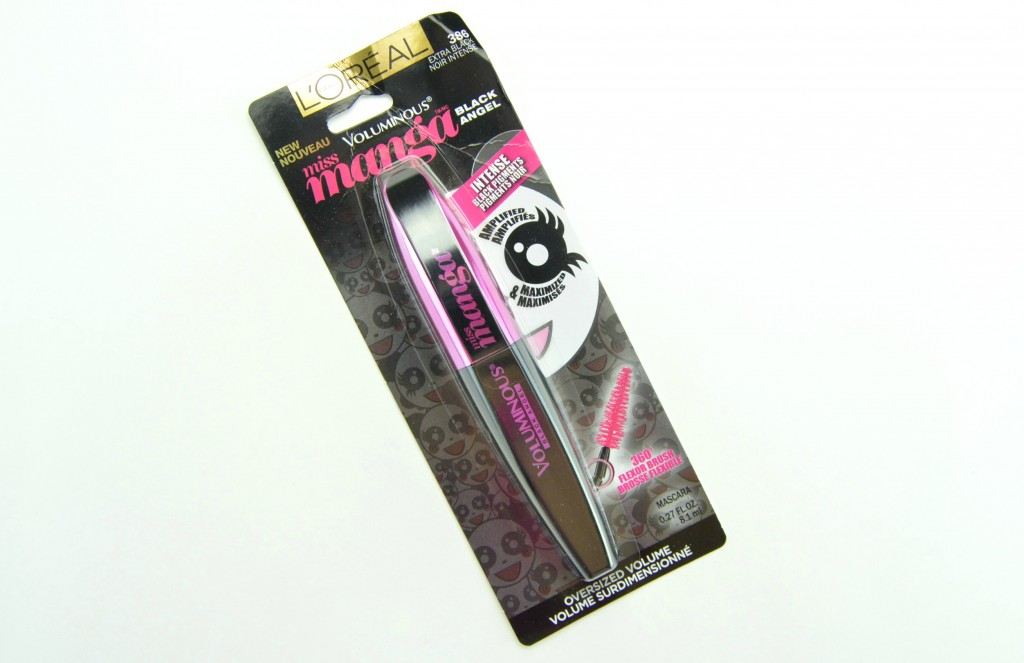 L'Oreal Infallible mascara, L'Oreal Voluminous Miss Manga Black Angel Mascara, black mascara, mascara 2015