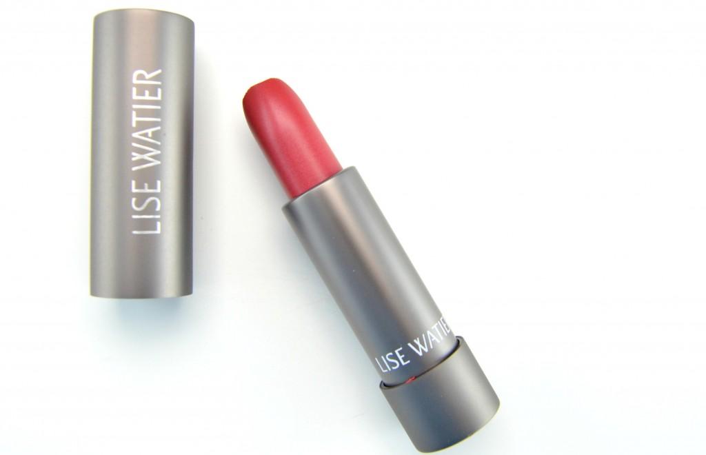 Lise Watier Expression lipstick, Lise Watier Rouge Gourmand Velour, red lipstick, poppy lipgloss, matte red lip, matte red lipstick