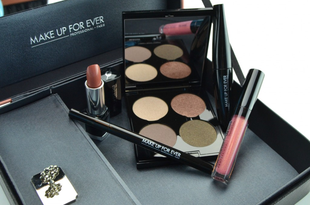 Make Up For Ever Give In To Me Alluring Color for Eyes and Lips, Graphic Eyeliner, Smoky Extravagant Mascara, Rouge Artist Natural Lipstick, Lab Shine Lipgloss, 50 Shades of Grey