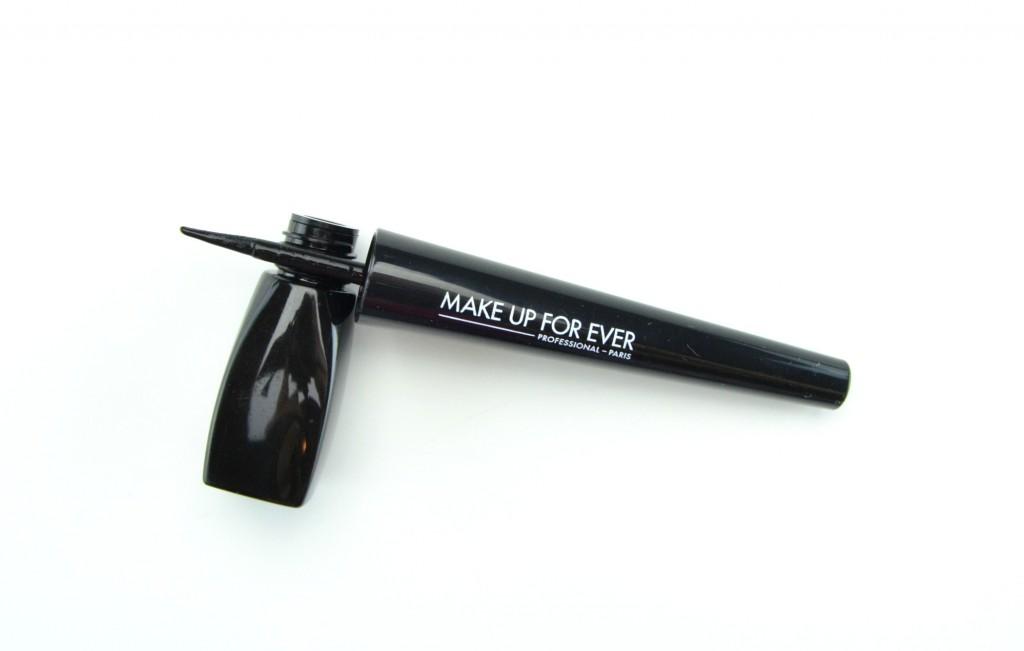 liquid liner, black eyeliner, gel eye liner, beauty blogger, make up for ever