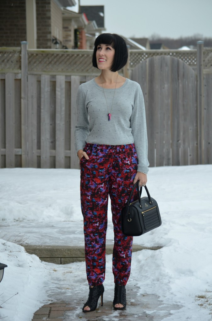 What I Wore, Sweater, Cleo, Necklace, La Clé Jewelry, Watch, Caravelle New York, Bracelet, Pearls for Girls, Watercolor pants
