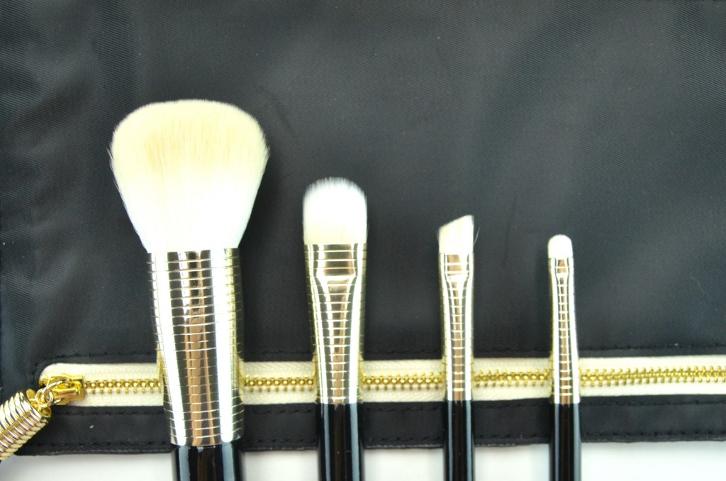 Sonia Kashuk Golden Age Four-Piece Brush Set with Clutch