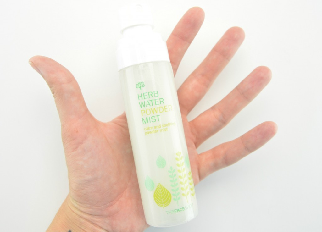 The Face Shop Nature's Herb Water Powder Mist, herb water mist, hydrating mist