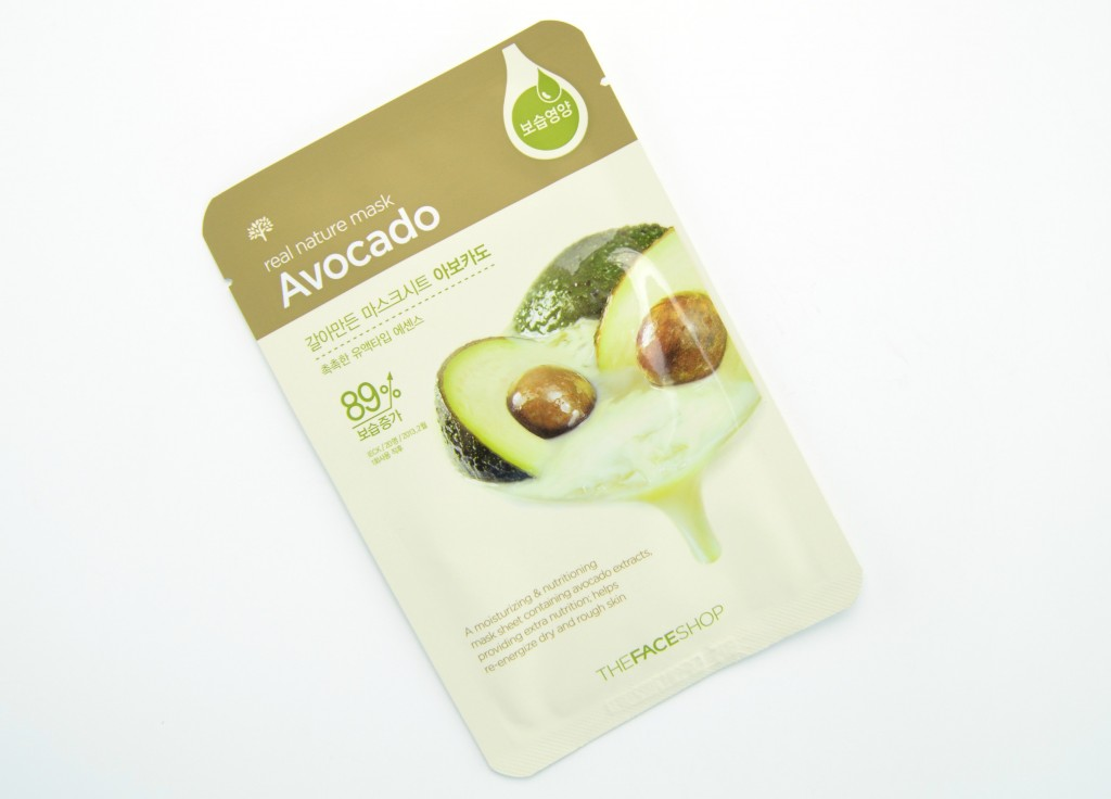 The Face Shop review, The Face Shop Real Nature Mask, sheet mask, nature mask, facial masks, The Face Shop Real Nature Mask avocado