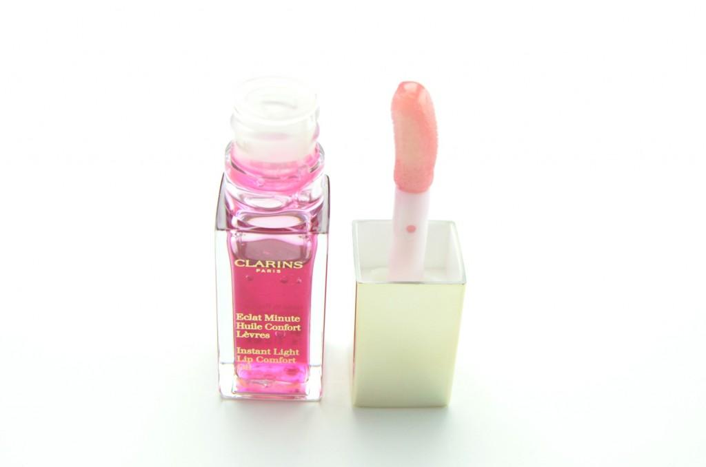Clarins Instant Light Lip Comfort Oil, lip oil, Clarins Instant Light, Lip Comfort Oil