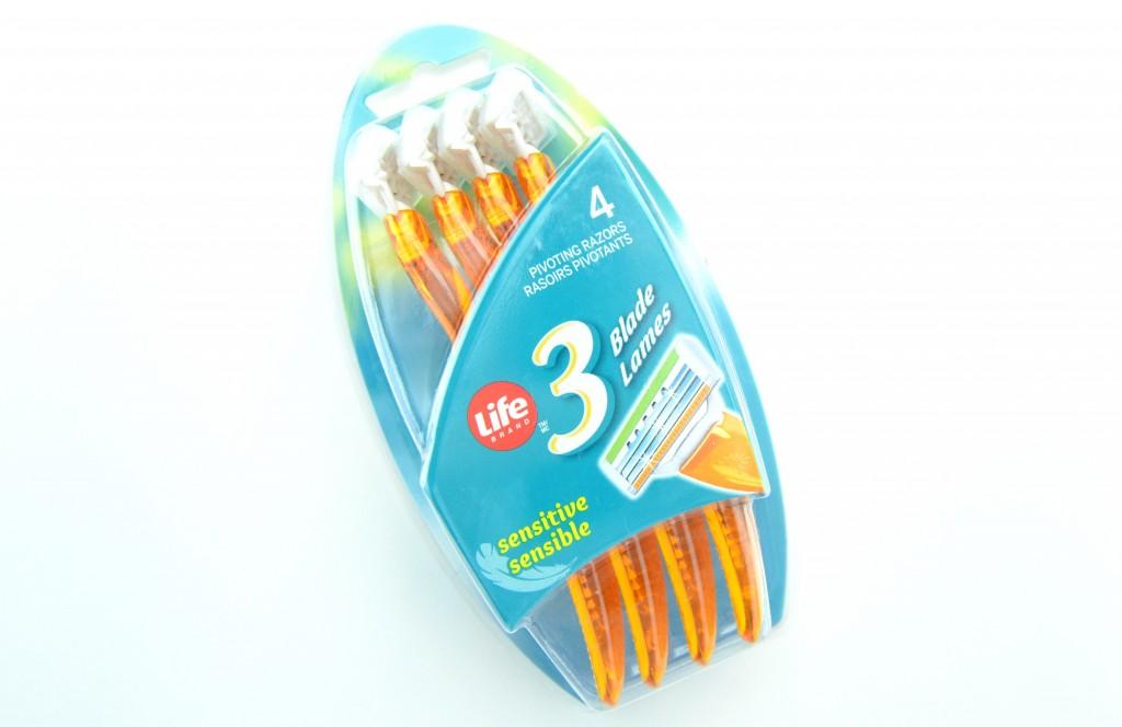 Life Brand Disposable Razors for Women, life brand razors, life brand disposable razors, disposable razors, razors, throw-a-way razors, yellow razors, lady razor