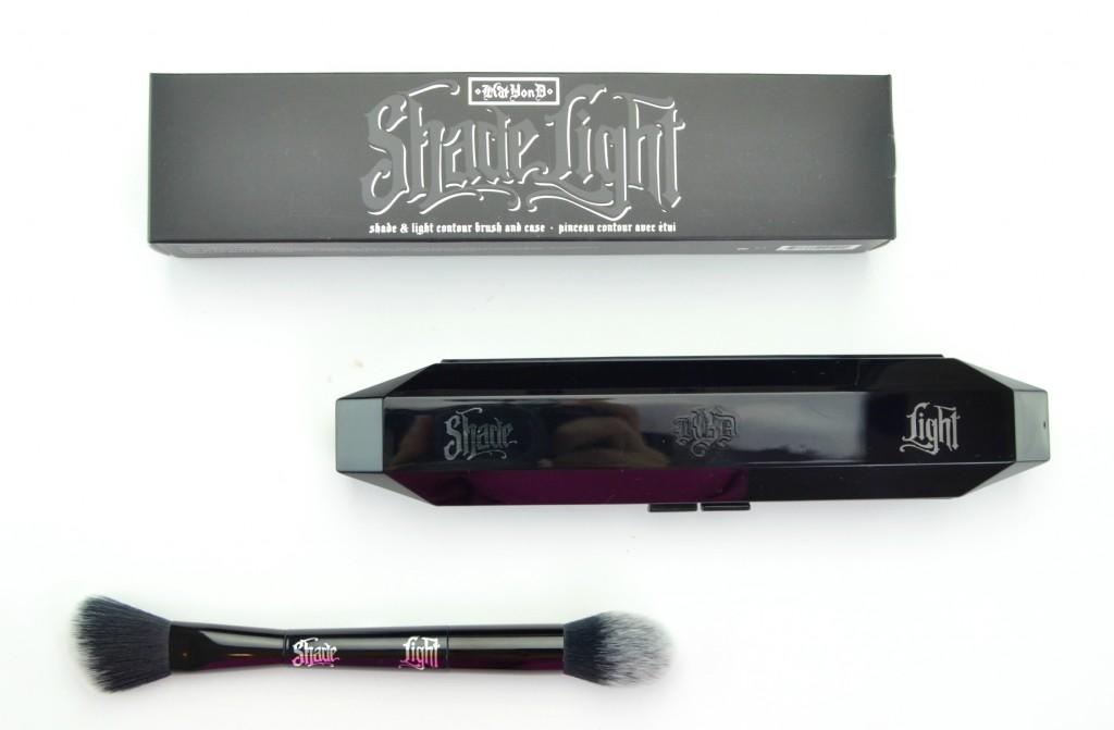 Kat Von D brush, Kat Von D Shade + Light Contour Brush, contour brush, dual ended brush