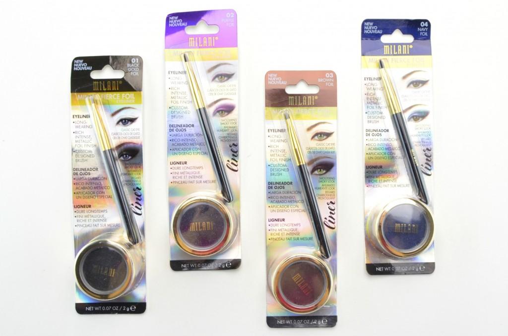 Milani eyeliner, Milani Fierce Foil Eyeliner, milani gel liner, gel eyeliner, gel liner, potted eyeliner