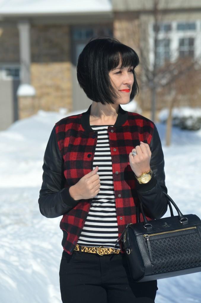 Gold Watch,  Guess watch, Black Skinny Jeans, Smart Set jeans, black Booties- Miz mooz boots