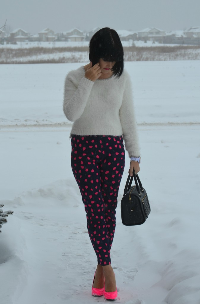 What I Wore, Sweater, Smart Set, Purse, Kate Spade, Watch, Fossil, Bracelet, Cigarette pants, H&M