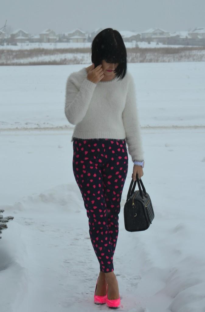 What I Wore, Sweater, Smart Set, Purse, Kate Spade, Watch, Fossil, Bracelet, Cigarette pants, H&M