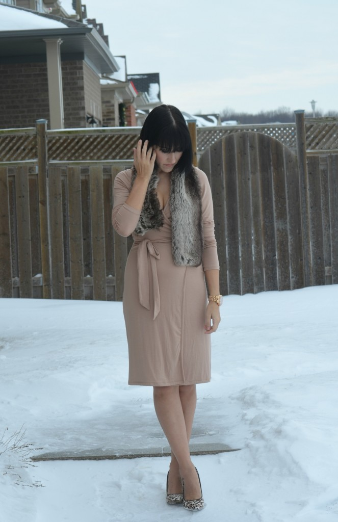 Rose Athena wrap dress,