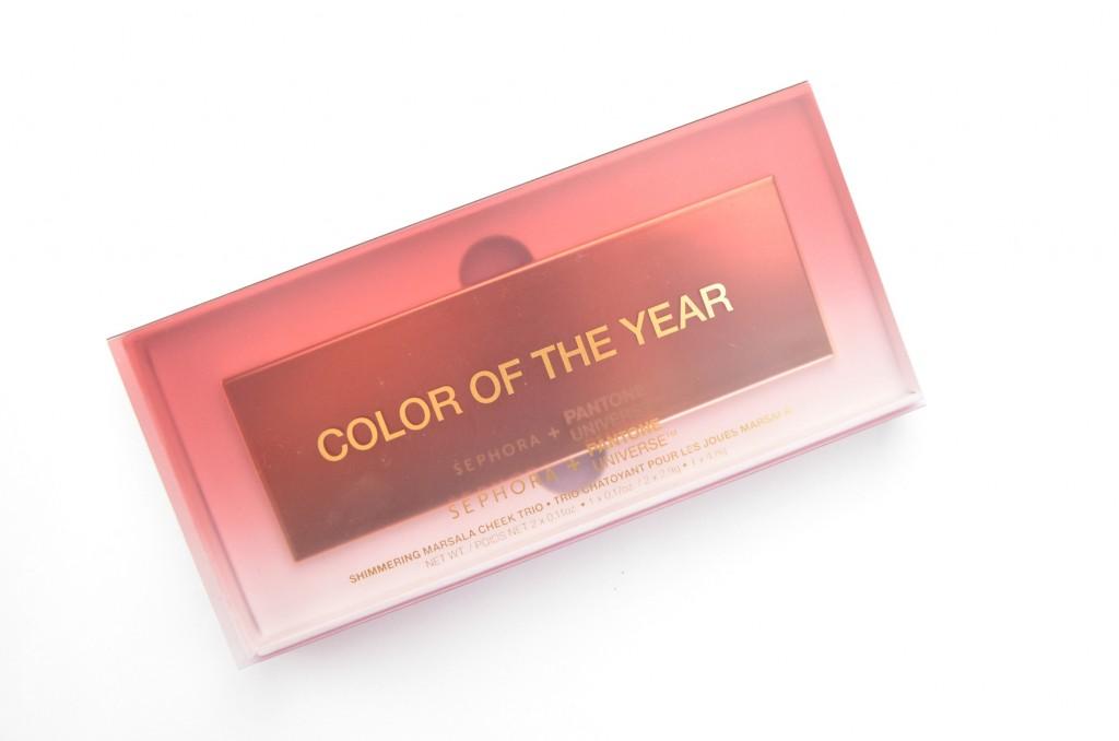 SEPHORA + PANTONE, Colour of the Year, Marsala 18-1438, Sephora Shimmering Marsala Cheek Trio, Sephora Shimmering Marsala, Cheek Trio