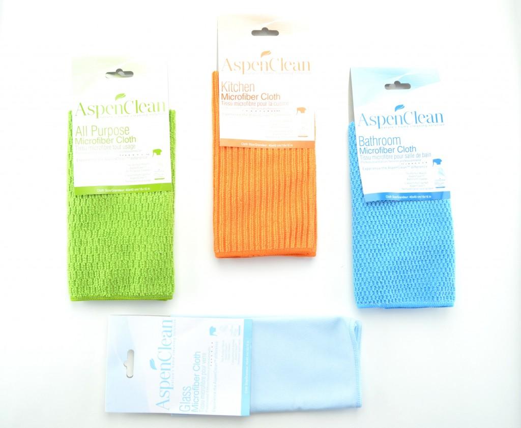 AspenClean cloth, microfiber clothes