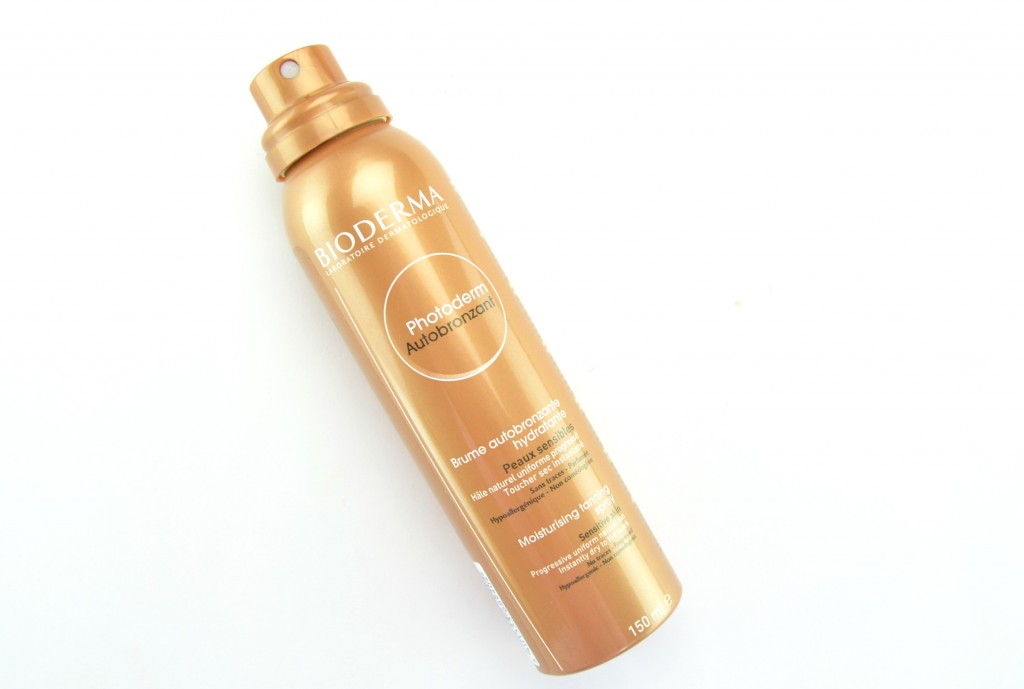 Bioderma Photoderm Autobronzant Moisturising Tanning Spray review, self-tanner, tanner, tanning lotion, at home tan, bronze tan