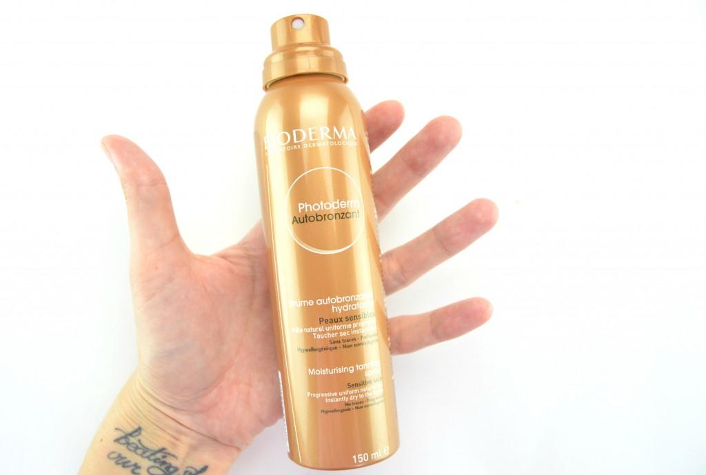 Bioderma Photoderm Autobronzant, Moisturising Tanning Spray review, self-tanner, tanner, tanning lotion, at home tan, bronze tan