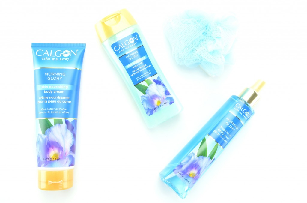 take me away, calgon, morning glory, bath set, calgon bath set, mother's day gift