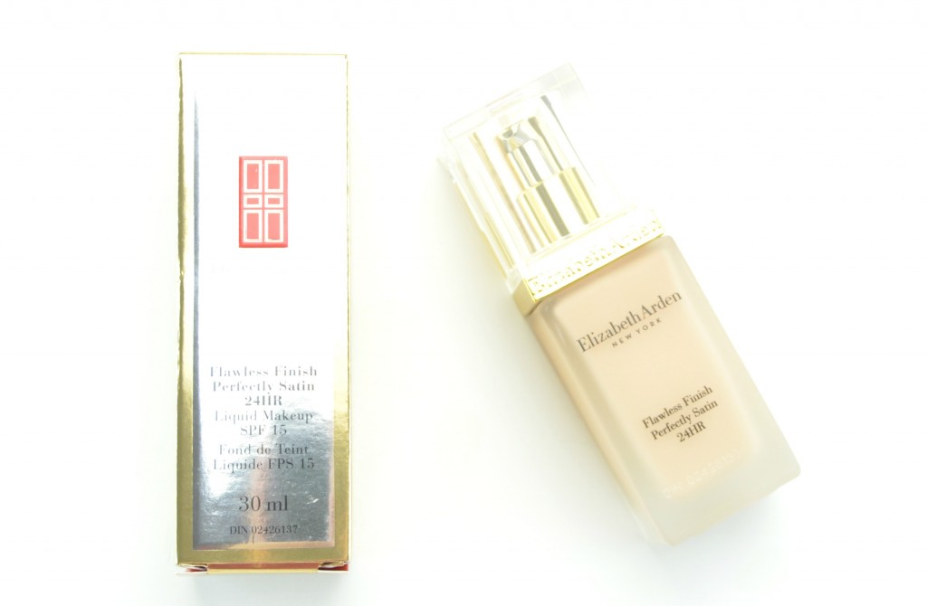 Elizabeth Arden Flawless Finish Perfectly Satin 24HR Liquid Makeup SPF 15 Review