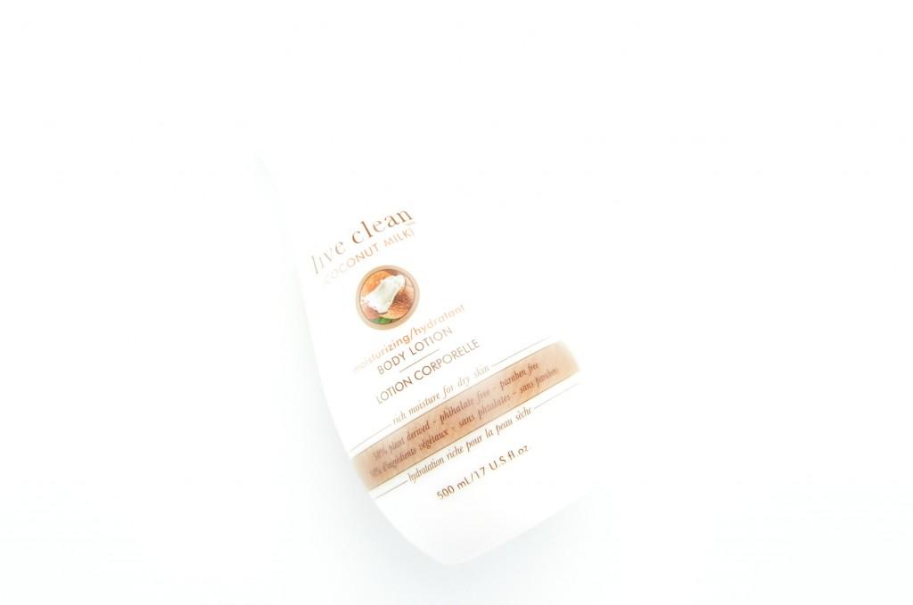 Live Clean Coconut Milk Body Moisturizing Body Lotion