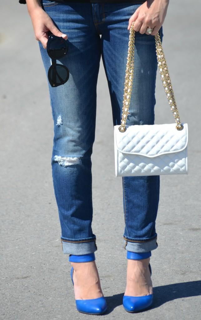 Gianna Seca of SilverSparklings, SilverSparklings, Canadian fashionista, club Monaco jacket, boyfriend jeans, miz mooz pumps, miz mooz shoes