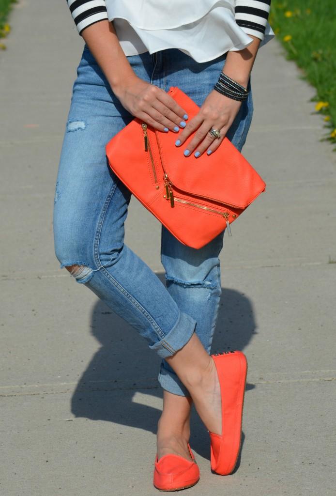 h&M jeans, Tailspin Surfer, Sanuk surfers, Canadian fashionista, boyfriend skinny jeans, polette dinasorus glasses