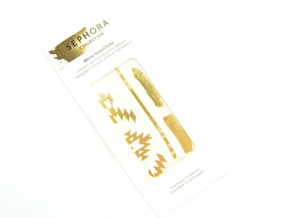 Sephora Collection Shine Beautifully Metallic Gold Temporary Tattoos