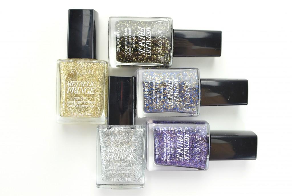 Avon Metallic Fringe, fringe nails, avon nail polish, fringe nail polish, metallic nail polish