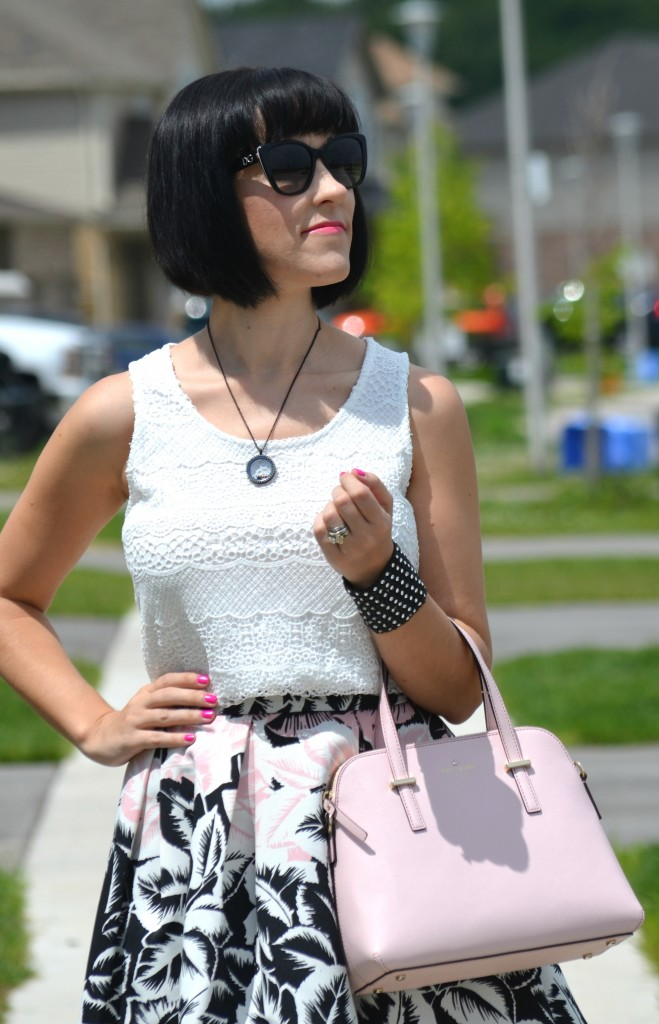 What I Wore, Canadian fashionista, GERRY WEBER, taifun, Gerry weber Canada, D&G Sunglasses, SmartBuyGlasses, ShopMissA, Cocoa Jewelry, kate spade pink purse