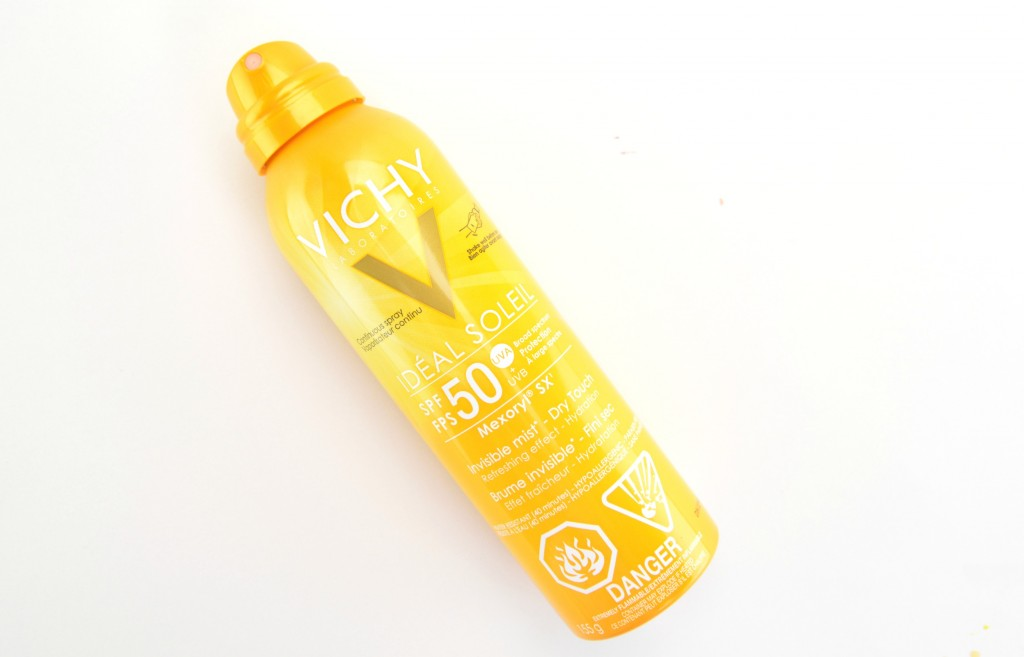 Vichy Ideal Soleil Invisible Mist, SPF 50, vichy sunscreen, vichy ideal, vichy soleil, invisible sunscreen, canadian beauty blogs