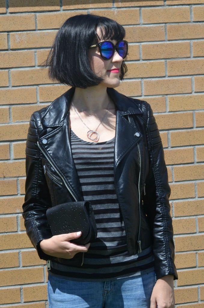 What I Wore, Canadian fashionista, Pearls for Girls, Polette, polette sunglasses, Canadian fashion blogger, Toms purse, black High-Tops, Harley Davidson