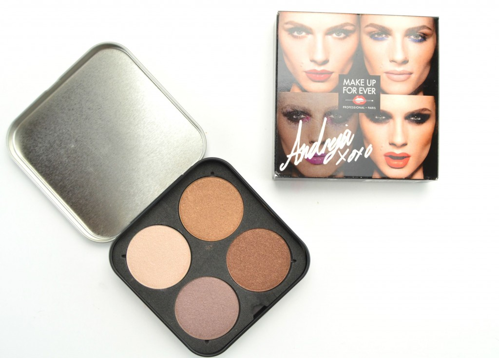 Make Up For Ever Andreja Pejić , Make Up For Ever artist, Andreja Pejić, mufe palette, canadian beauty blogger