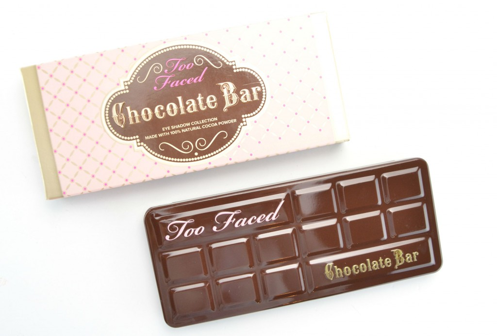 Too Faced chocolate, Chocolate Bar Eye Palette, chocolate eyeshadow, canadian beauty blogger