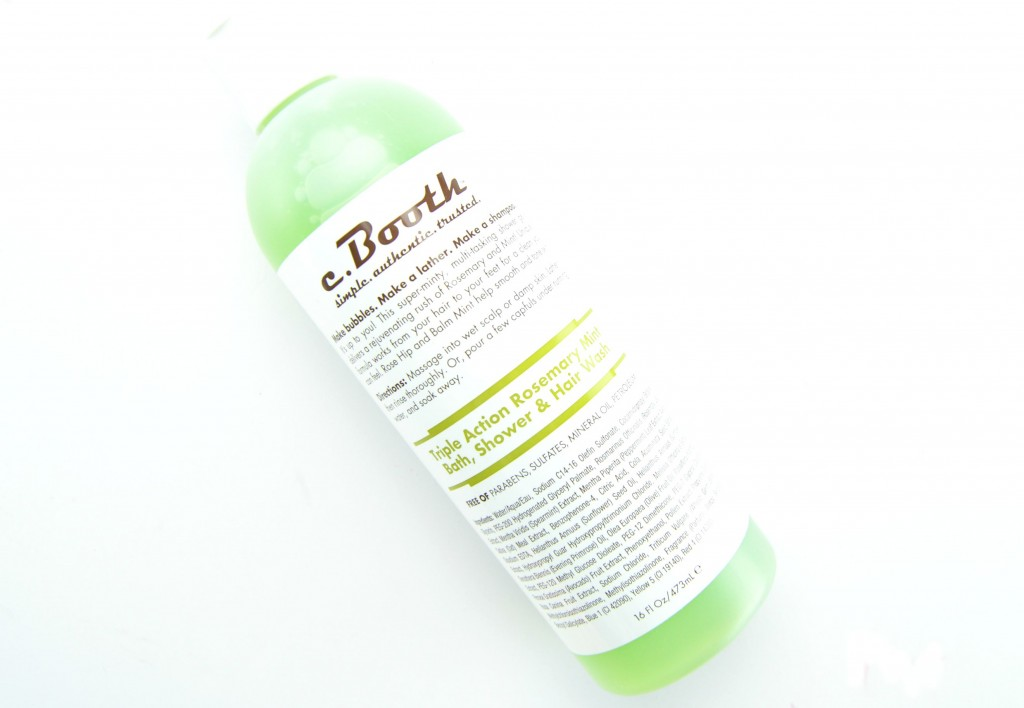 c.Booth Triple Action Rosemary Mint Bath
