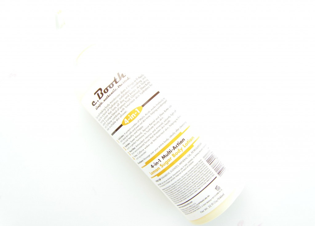 c.Booth 4-in-1 Multi-Action Lemon Sugar Body Lotion