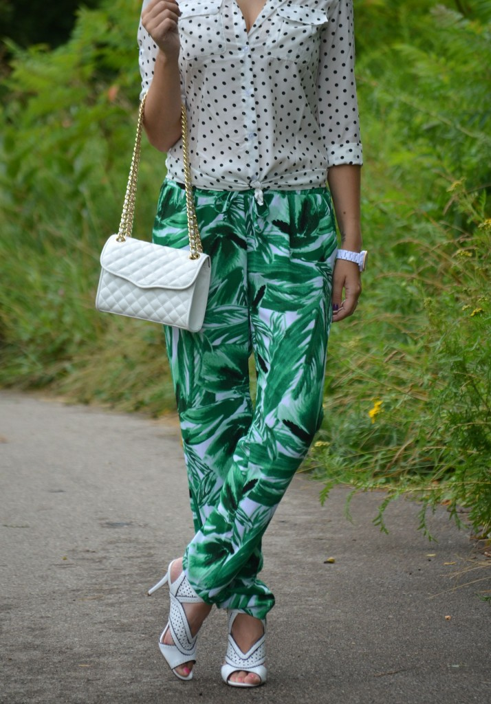 Palm Printed Pants