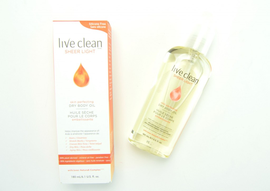 Live Clean Dry Body Oil, dry body oil, body oil, canadian beauty blogger