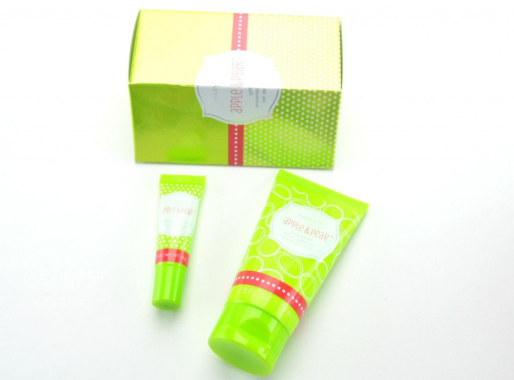 Mary Kat Body Lotion & Lip Balm Gift Set in Apple & Pear